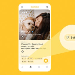 """Bumble will now allow users to add a """"Sober"""" badge to their profile."""