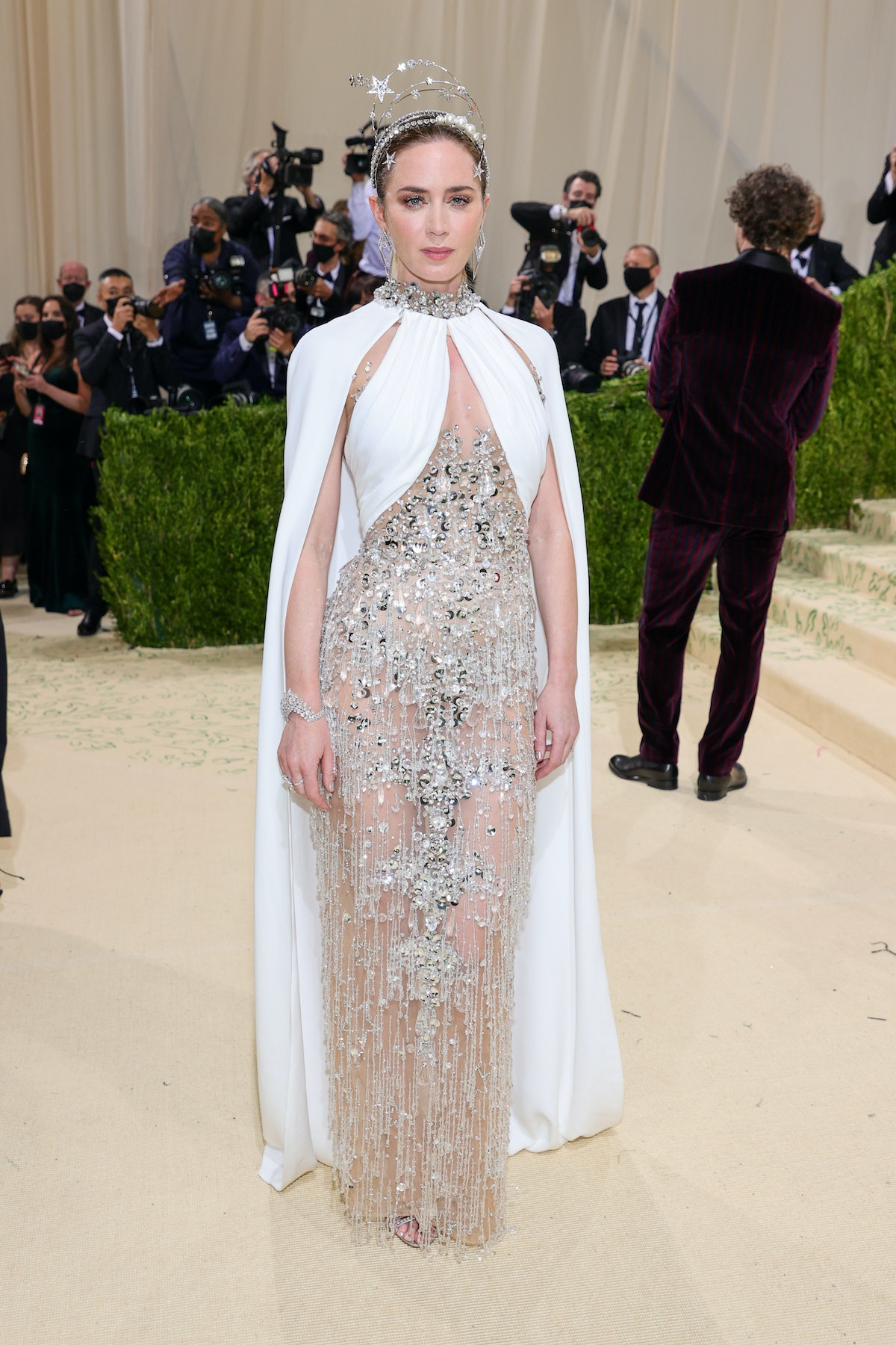 Emily Blunt attends The 2021 Met Gala Celebrating In America: A Lexicon Of Fashion at Metropolitan M...