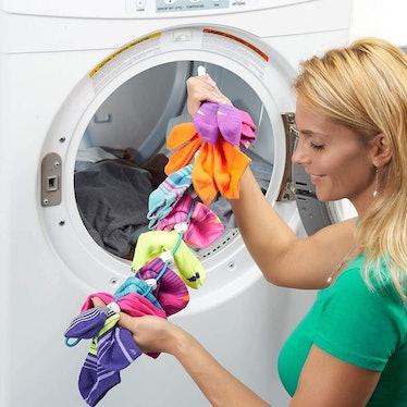 SockDock Sock Laundry Tool & Storage Hanger (2 Pack)