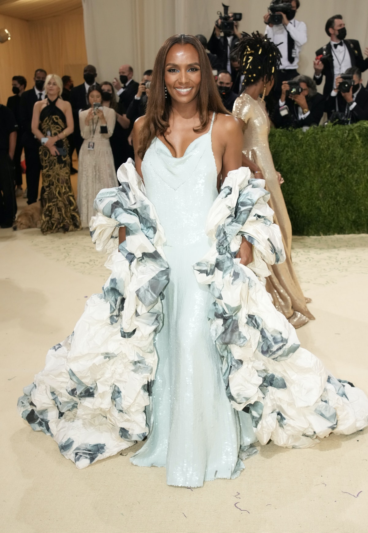 Janet Mock attends The 2021 Met Gala Celebrating In America: A Lexicon Of Fashion at Metropolitan Mu...