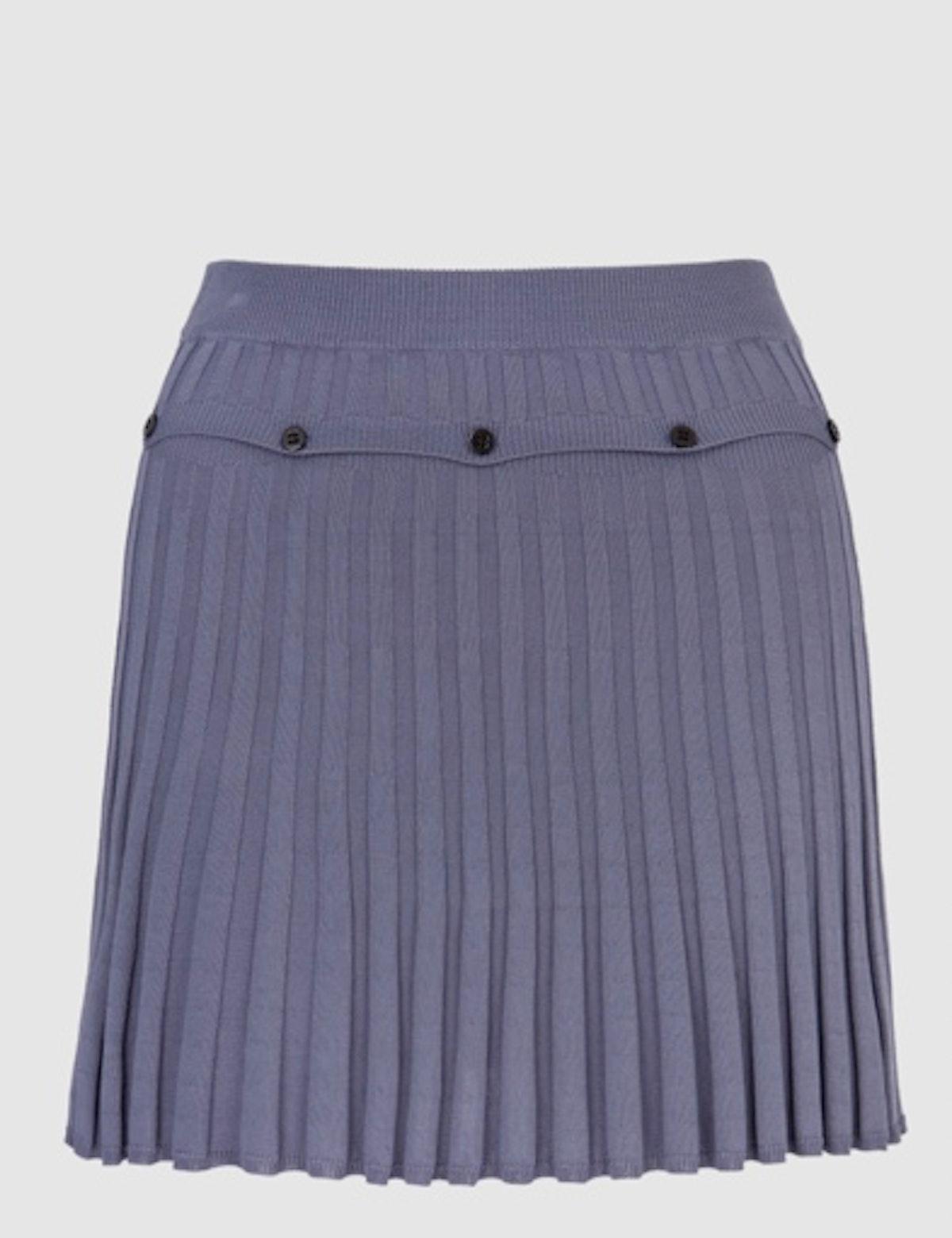 Onyx Pleated Knit Mini Skirt