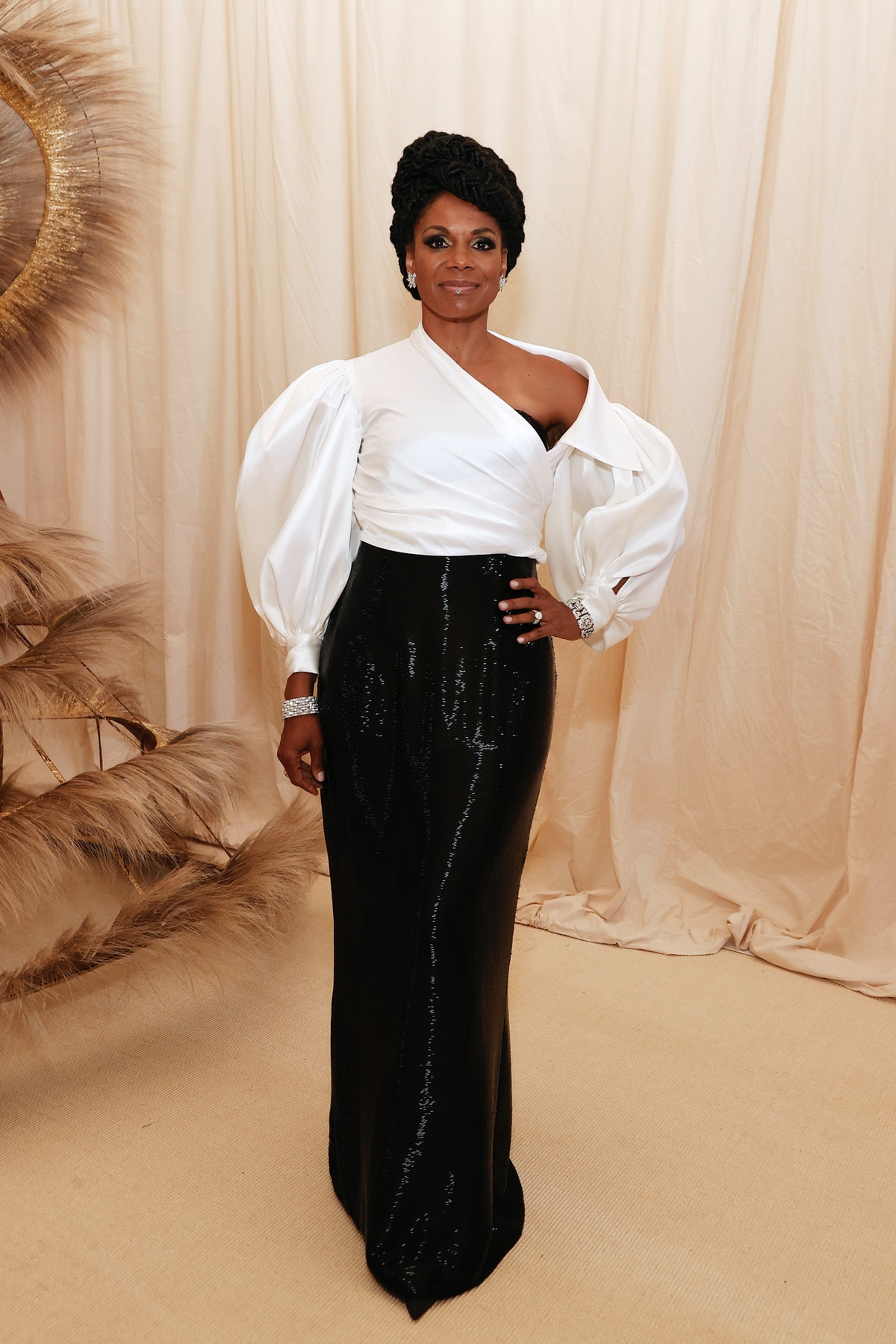 Audra McDonald attends The 2021 Met Gala Celebrating In America: A Lexicon Of Fashion at Metropolit...