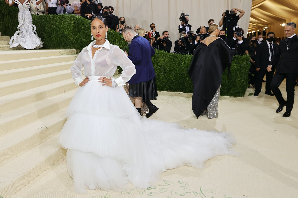 Alicia Keys attends The 2021 Met Gala Celebrating In America: A Lexicon Of Fashion at Metropolitan M...