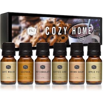 P&J Trading Cozy Home Fragrance Oil (Set of 6)