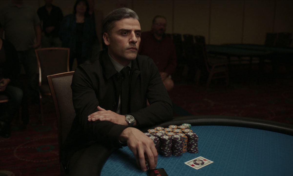 Oscar Isaac stars as William Tell in The Card Counter.
