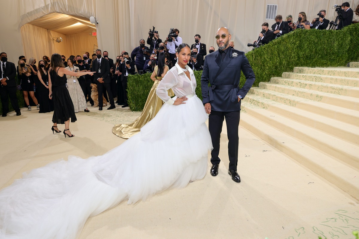Alicia Keys and Swizz Beatz attend The 2021 Met Gala Celebrating In America: A Lexicon Of Fashion at...