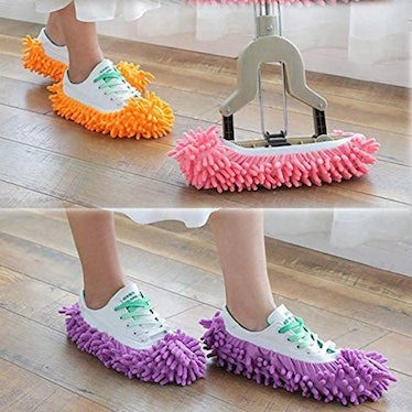 Yueiehe Duster Mop Slippers Shoe Covers (5 Pairs)