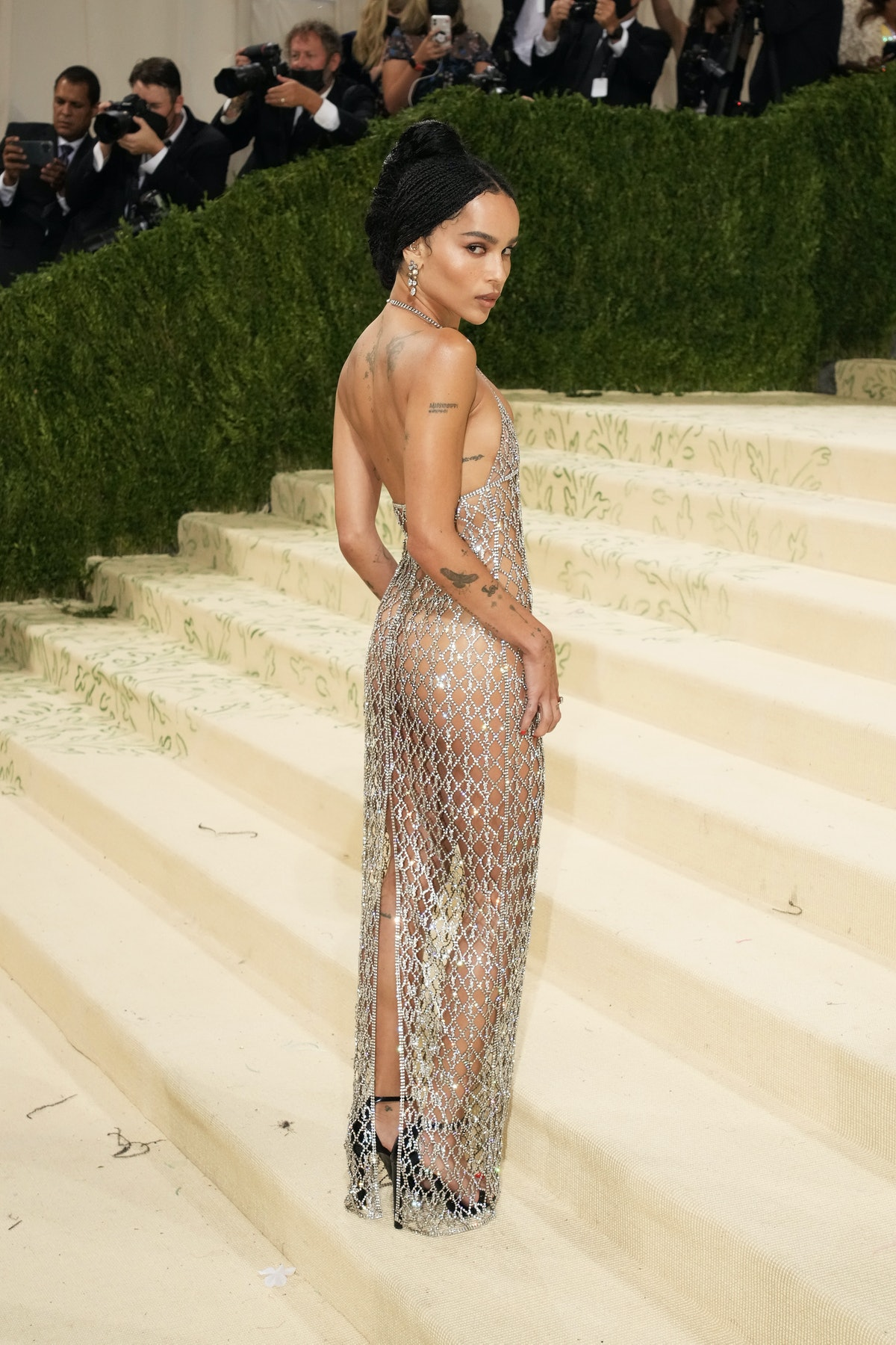 Zoe Kravitz attends The 2021 Met Gala Celebrating In America: A Lexicon Of Fashion at Metropolitan M...