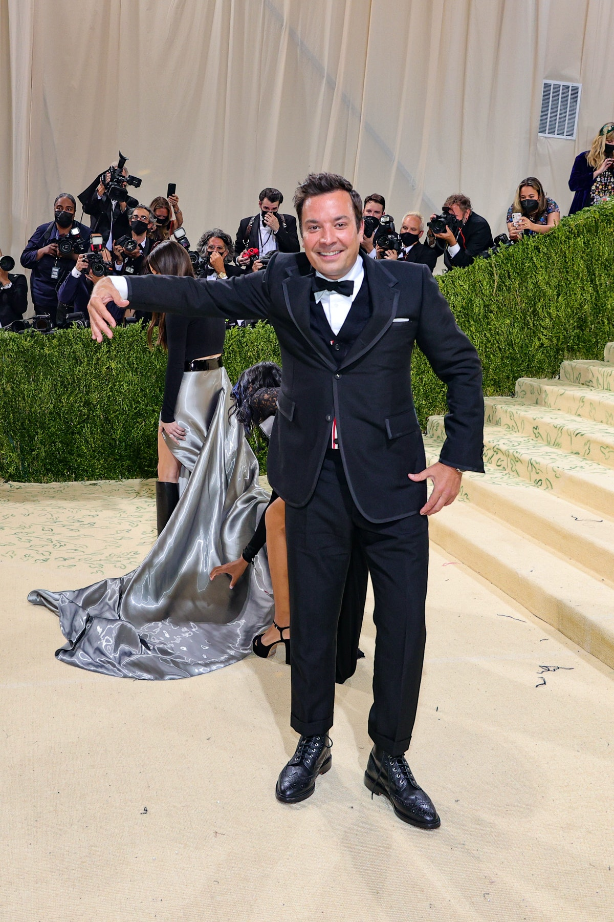 Jimmy Fallon attends The 2021 Met Gala Celebrating In America: A Lexicon Of Fashion at Metropolitan ...