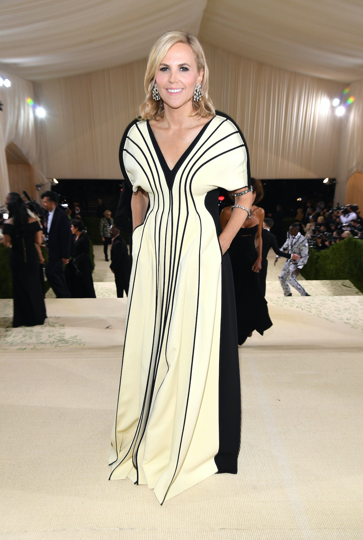 Tory Burch attends The 2021 Met Gala Celebrating In America: A Lexicon Of Fashion at Metropolitan Mu...