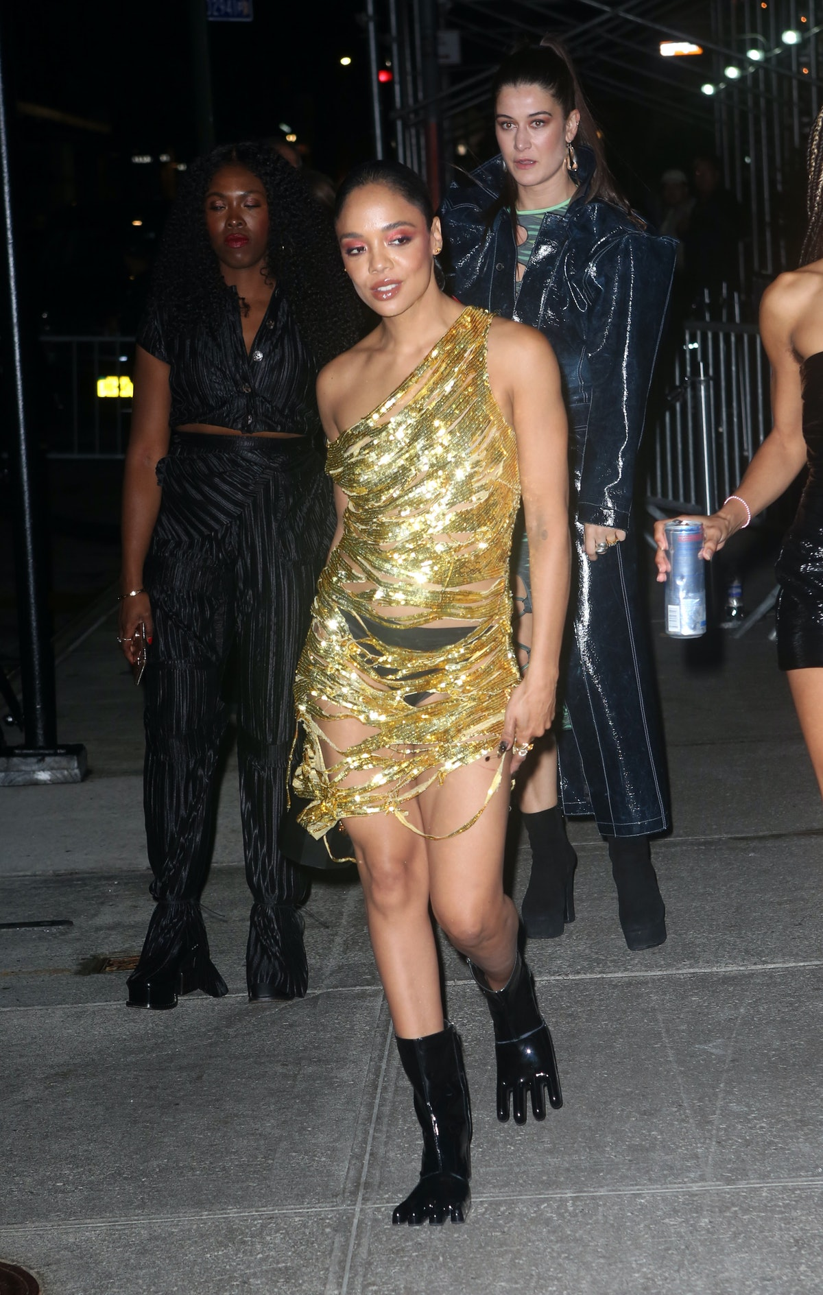 Tessa Thompson goes to a Met Gala 2021 after-party.