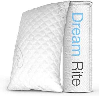 WonderSleep Dream Rite Hypoallergenic Shredded Memory Foam Pillow
