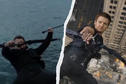 Marvel Easter eggs in 'Hawkeye' include callbacks to the first 'Avengers' film. Screenshots via Marv...