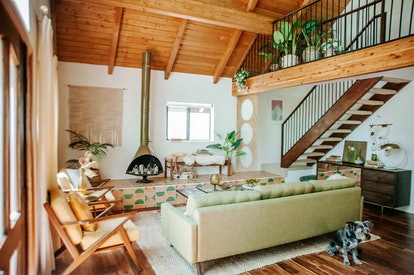 You can stay at this kitschy log cabin on Airbnb in Big Bear, California.