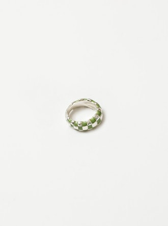 Libby Ring in Green and Sterling Silver