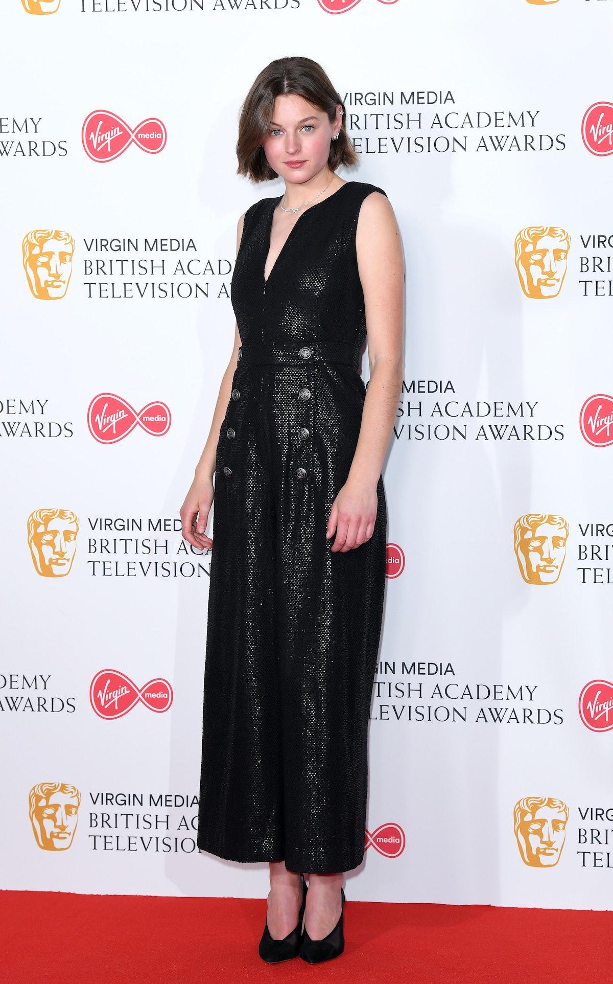 اما کورین در اتاق مطبوعات در جایزه تلویزیونی Virgin TV BAFTA Television در The Royal Festival Hal ...