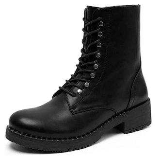 katliu Combat Lace Up Boots