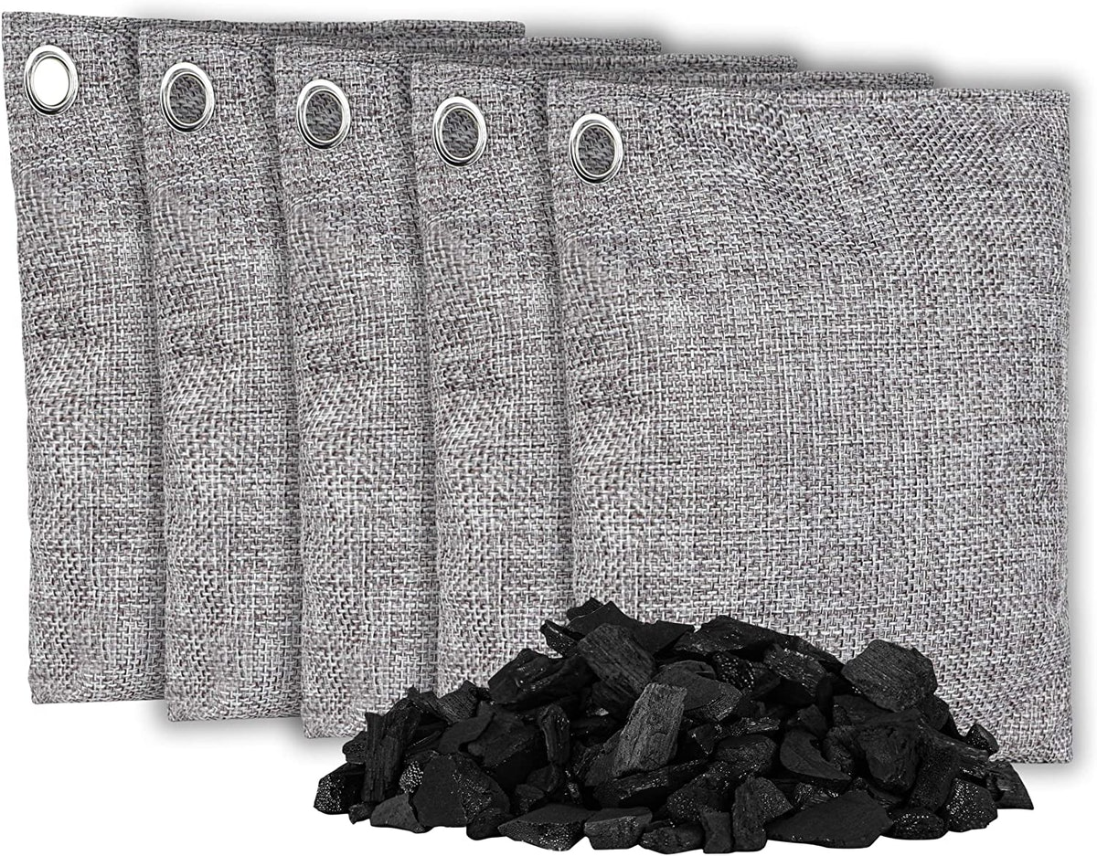 Olivia & Aiden Bamboo Charcoal Air Purifying Bags (5-Pack)