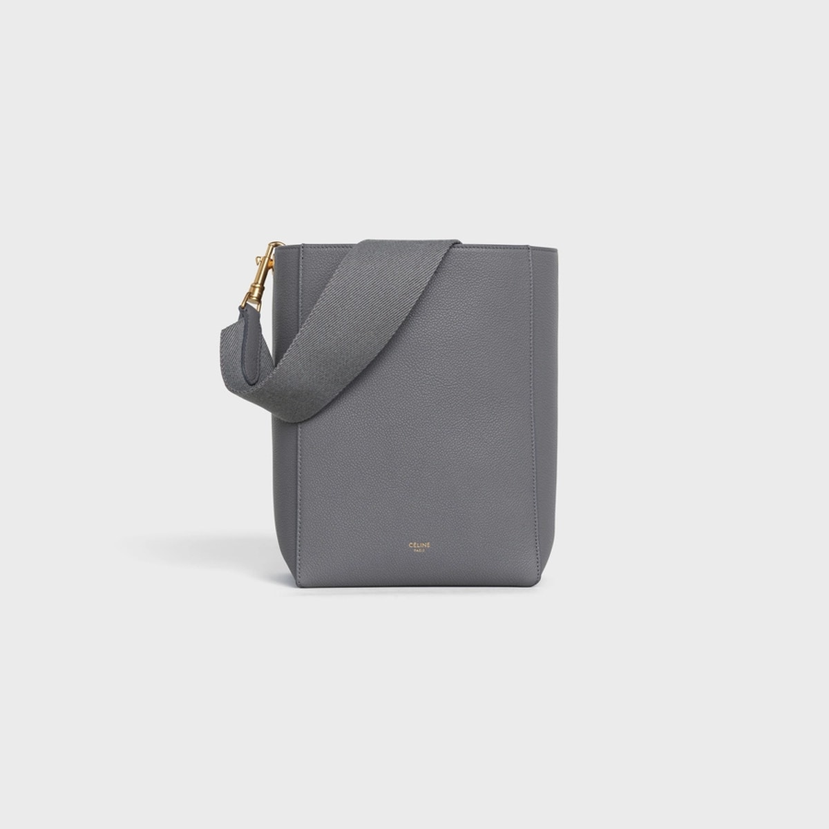 Grey Sangle small bucket bag from Celine.