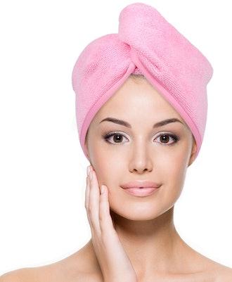 YoulerTex Microfiber Hair Towel (2-Pack)