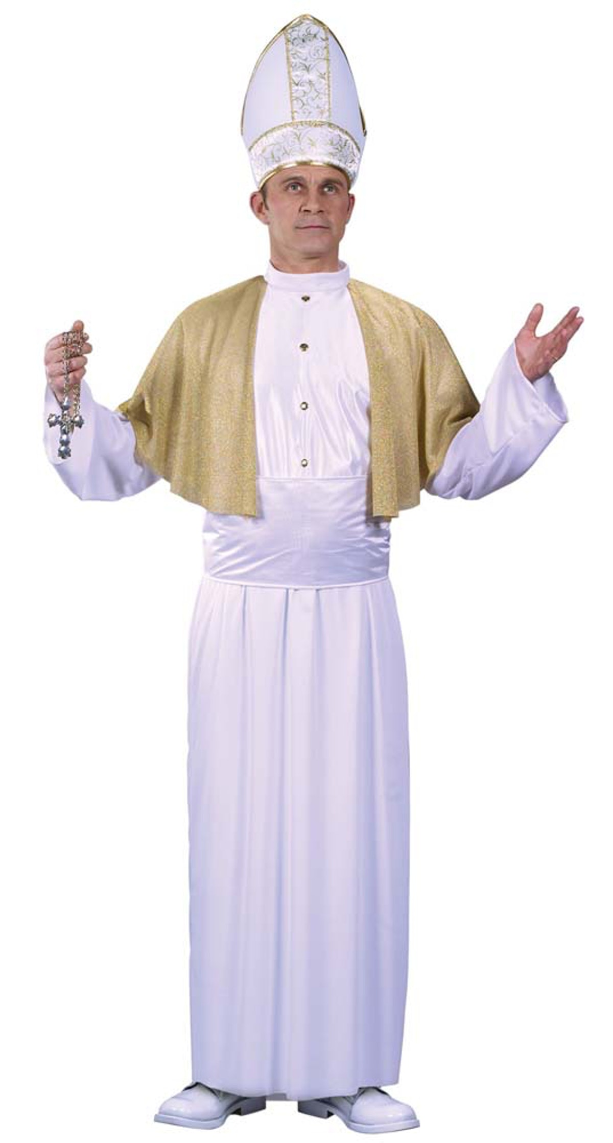 Moira Rose's wedding look on 'Schitt's Creek' is similar to a Pope costume.