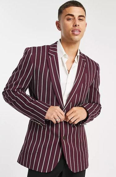 Max Wolfe rocks striped blazers on 'Gossip Girl.'