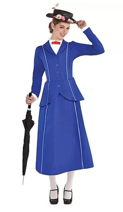 This Mary Poppins costume is a great choice for women on Halloween.