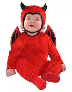 baby in devil halloween costume