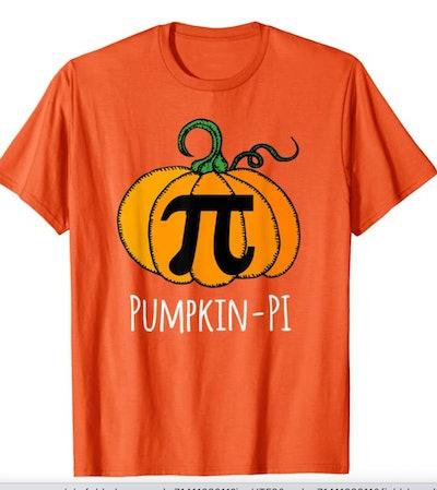 orange pumpkin pi math pun Halloween costume