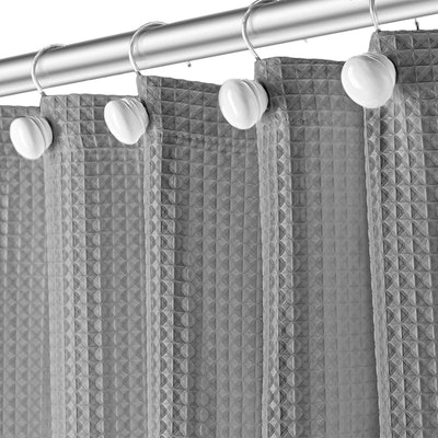 Creative Scents Waffle Shower Curtain with Liner