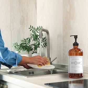 Sunrise Premium Refillable Glass Soap Dispenser (2-Pack)