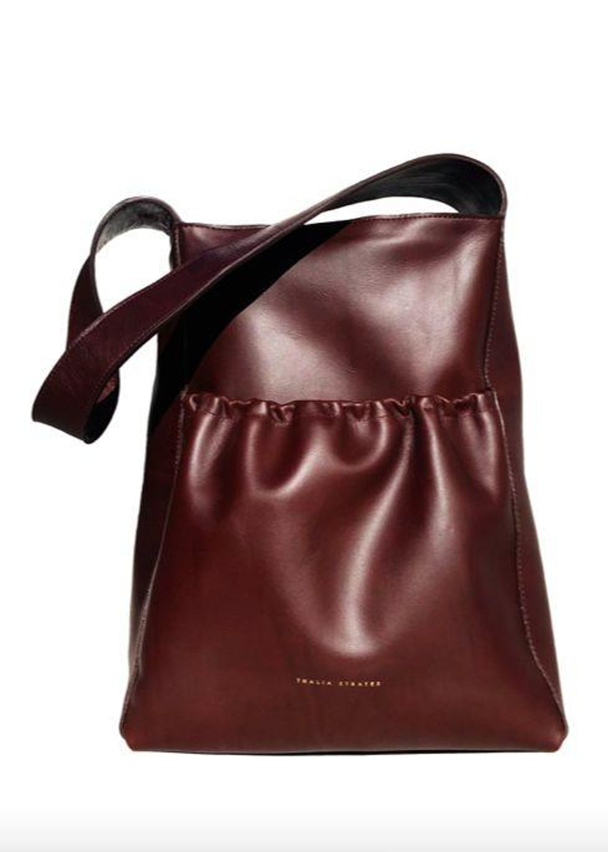 Burgundy Raphael bag from Thalia Strates, available to shop on The Folklore.