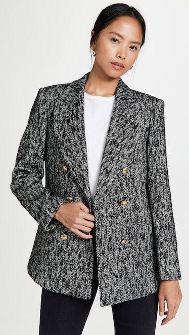 Dionne Black Tweed Blazer