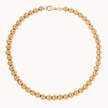 Marlo Laz Mini Golden Squash Blossom Bead Necklace