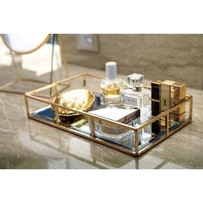 PuTwo Gold Mirror Tray