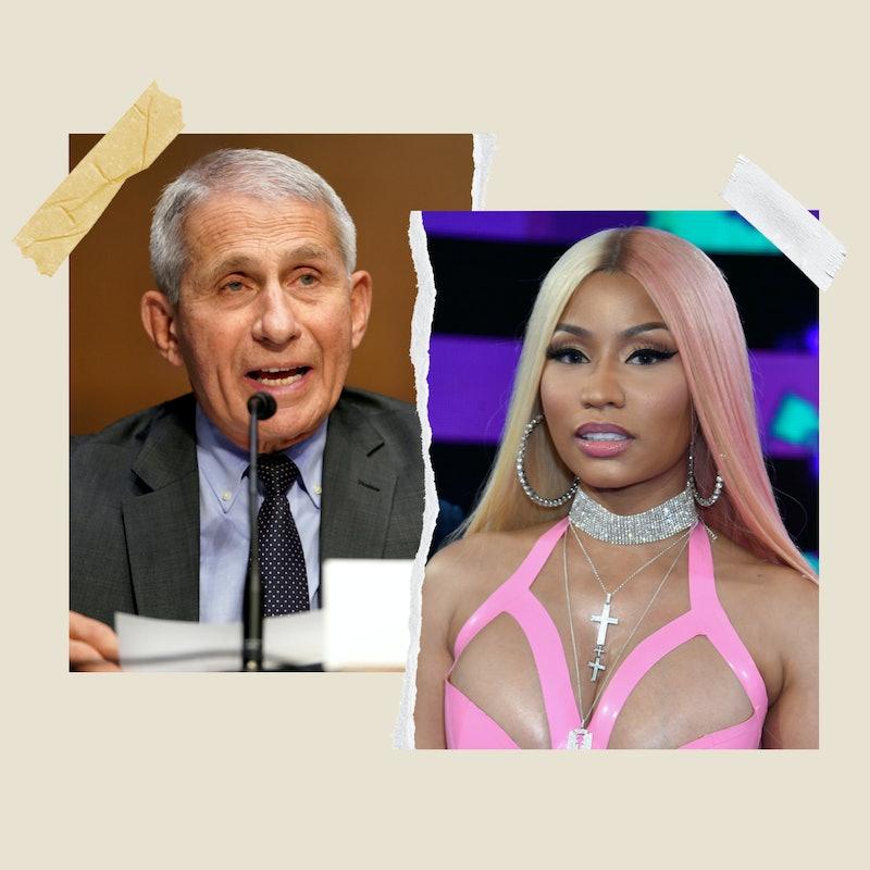 "Dr. Fauci calls out Nicki Minaj for ""unscientific"" COVID-19 vaccine tweets."