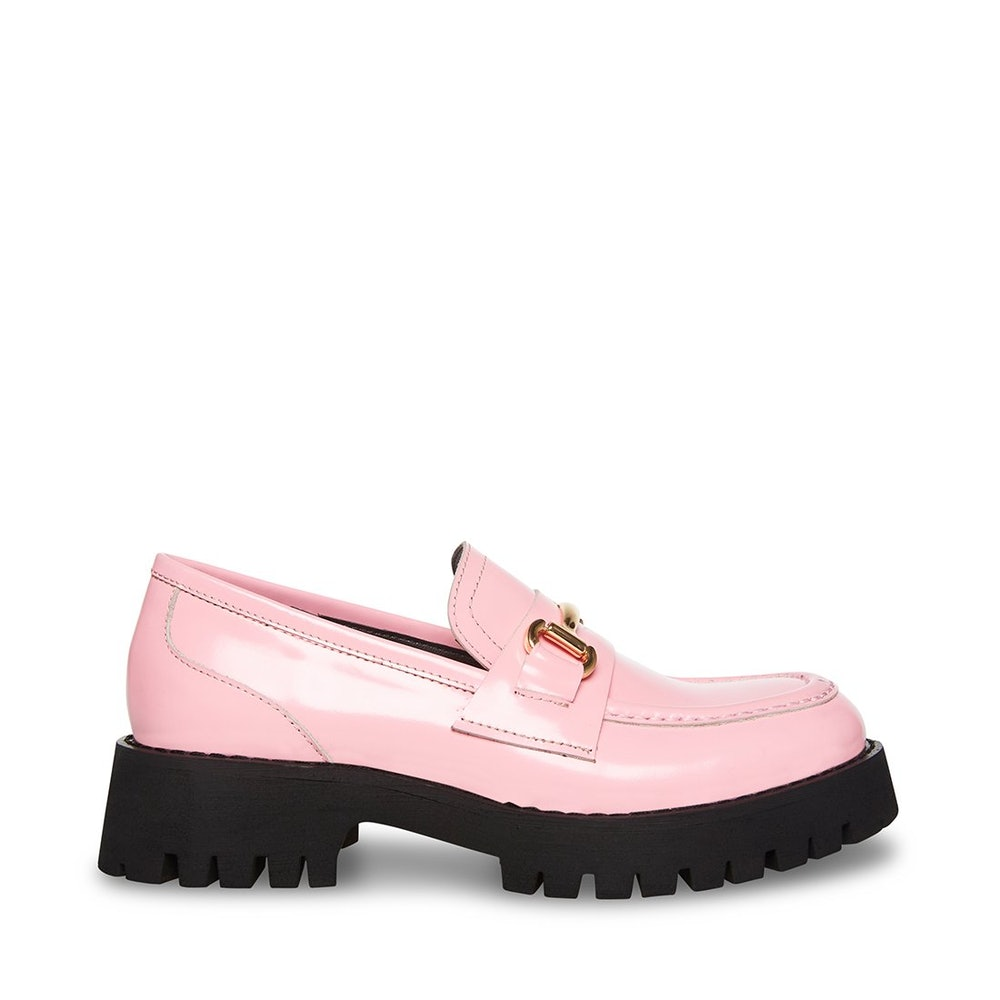 Lando Pink Leather Loafers