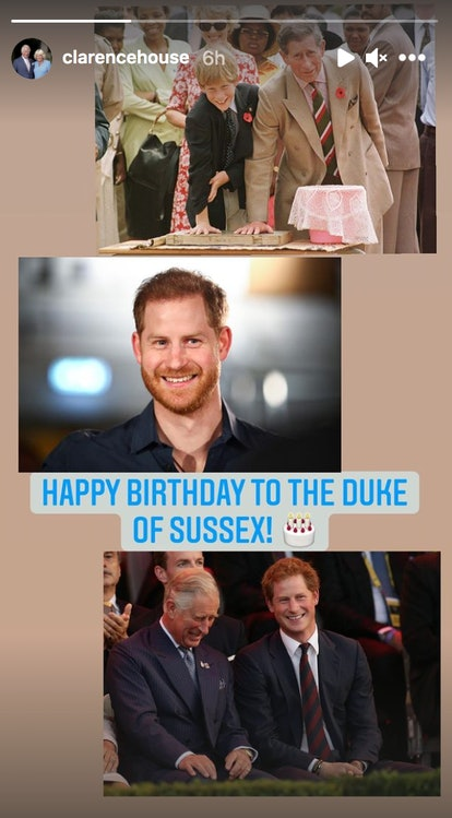 Prince Charles wished Prince Harry a happy birthday.