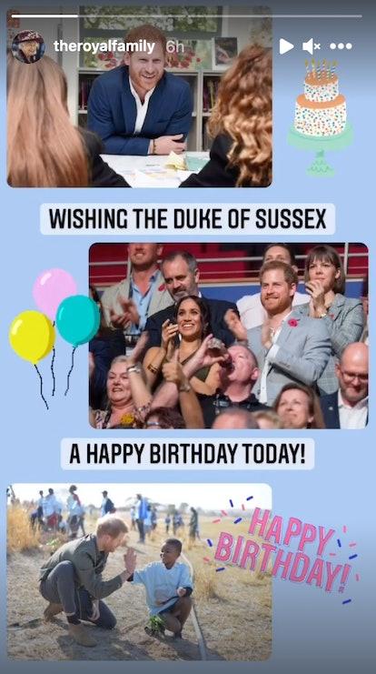 Queen Elizabeth II wished Prince Harry a happy birthday.