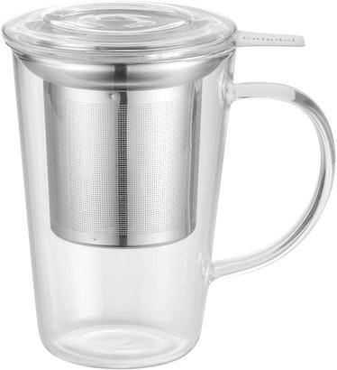 Enindel 3020.01 Glass Tea Mug with Infuser and Lid
