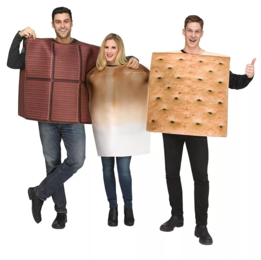 s'mores halloween costume (graham cracker, marshmallow, and chocolate) for 3 people