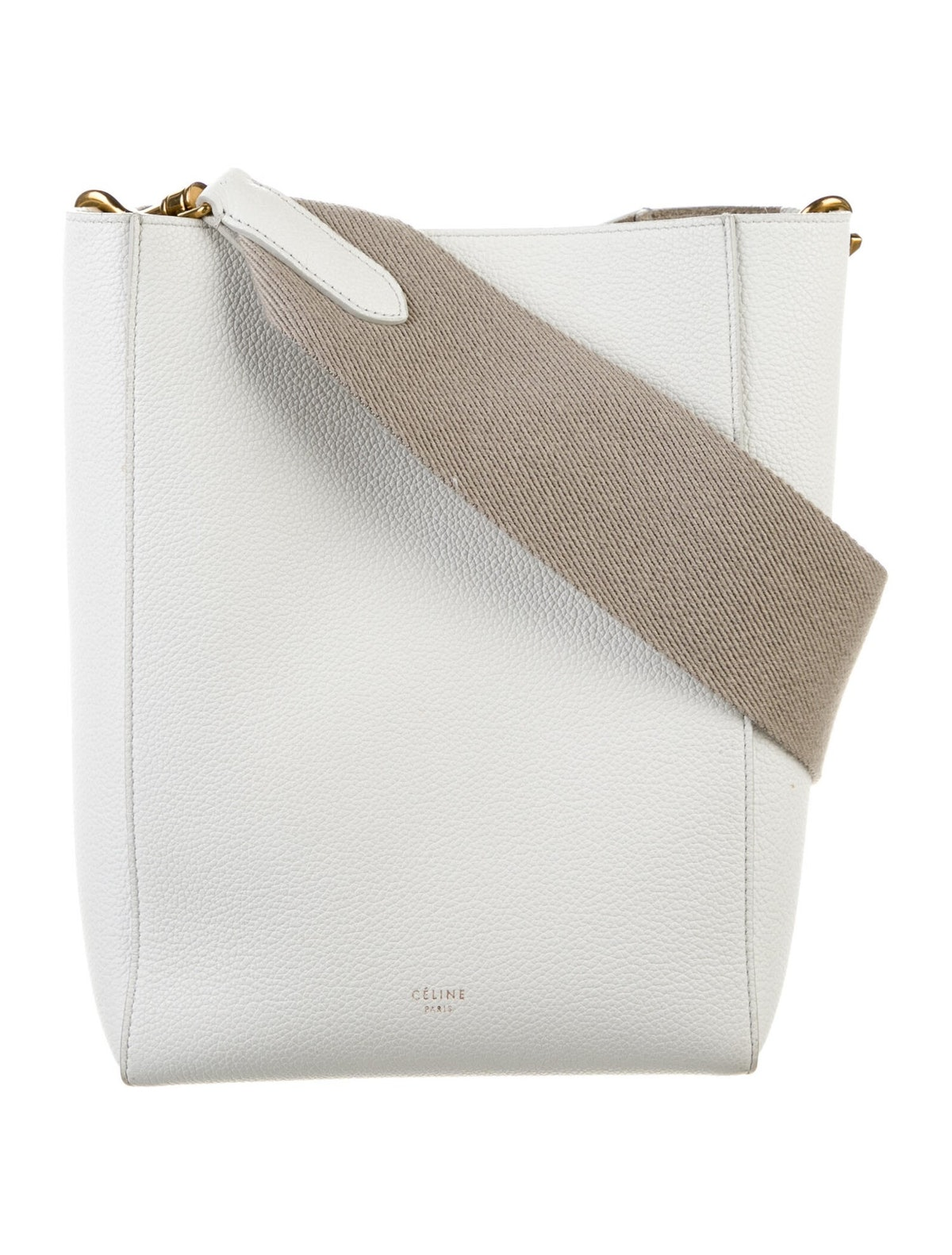 Small Seau Sangle Bucket Bag from Celine, available to shop second-hand via The RealReal.