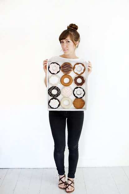 a dozen donuts DIY costume from the merrythough