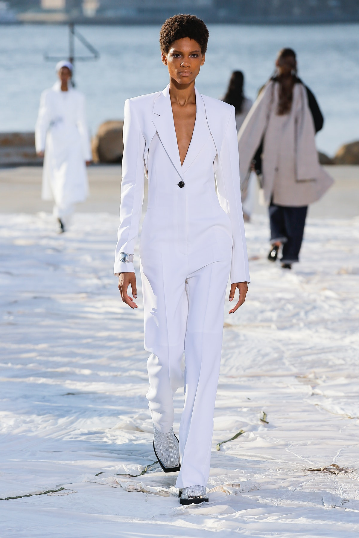 A model walks the runway during the Peter Do Ready to Wear Spring/Summer 2022 fashion show as part o...