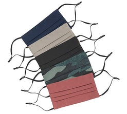 a set of five face masks from athleta