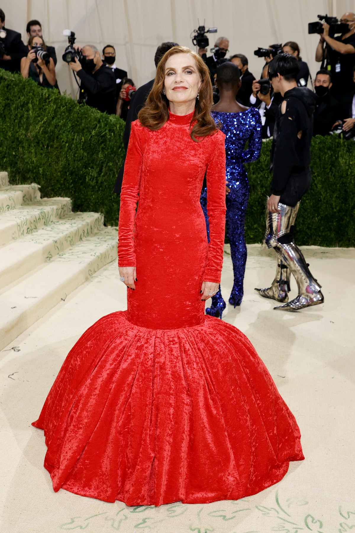 sabelle Huppert attends The 2021 Met Gala Celebrating In America: A Lexicon Of Fashion at Metropolit...