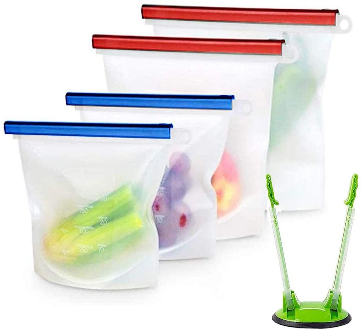Ubrand Silicone Storage Bag (4-Pack)