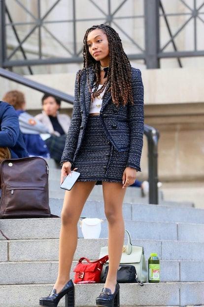 Monet De Haan combines professionalism with fashion on 'Gossip Girl.'