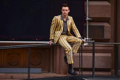 Max Wolfe loves to rock striped blazers on 'Gossip Girl.'