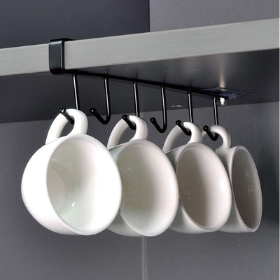 ECROCY Adhesive Under Cabinet Mug Holder (3 Pack)